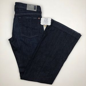 NWT 7 for all mankind dojo flare jeans 31x35